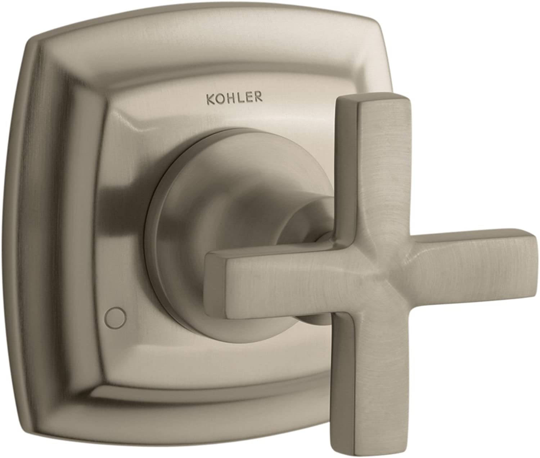 Kohler K-T16242-3-Bv Margaux Transfer Valve Trim With Cross Handle, Valve Not Included, Vibrant Brushed Bronze