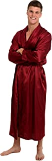 Men's Lightweight Satin Robe, Long Kimono