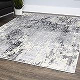 """Home Dynamix 529-451 Rainer Vintage-Teppich, Grau Modern 31""""x47"""" Grauer Regener"""