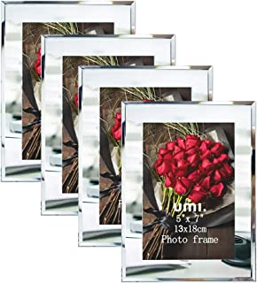 [Amazonブランド] Umi.(ウミ) 写真たて フォトフレーム 2l サイズ 写真飾り 額縁・パネル 結婚祝い 出産祝い 4枚セット