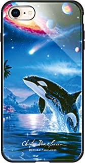 [IPHONESE(第2世代)] ケース 背面強化ガラス ハイブリッドケース かっこいい クール おしゃれ かわいい クリスチャンラッセン コラボ デザイン 3016-A. SILENT JOURNEY iPhonese2 2020 アイフォン...