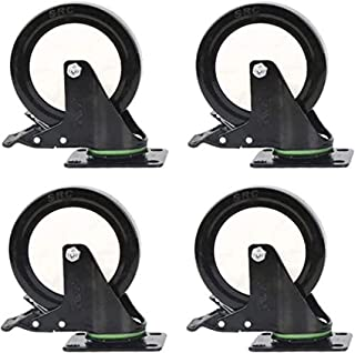 Zwenkwiel Bewegende zwenkwielen 4 stuks zwenkwielen Wielen 4 inch Vergrendelend zwenkwiel voor kledingkast Tafelstoel Bloe...