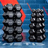 METIS Hexagon Dumbbell Set - Hanteln für Krafttraining | 2,5kg - 30kg (15kg)