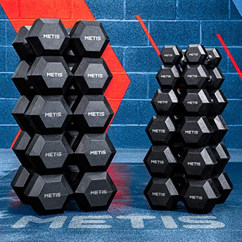 METIS Hexagon Dumbbell Set - Hanteln für Krafttraining | 2,5kg - 30kg (10kg)