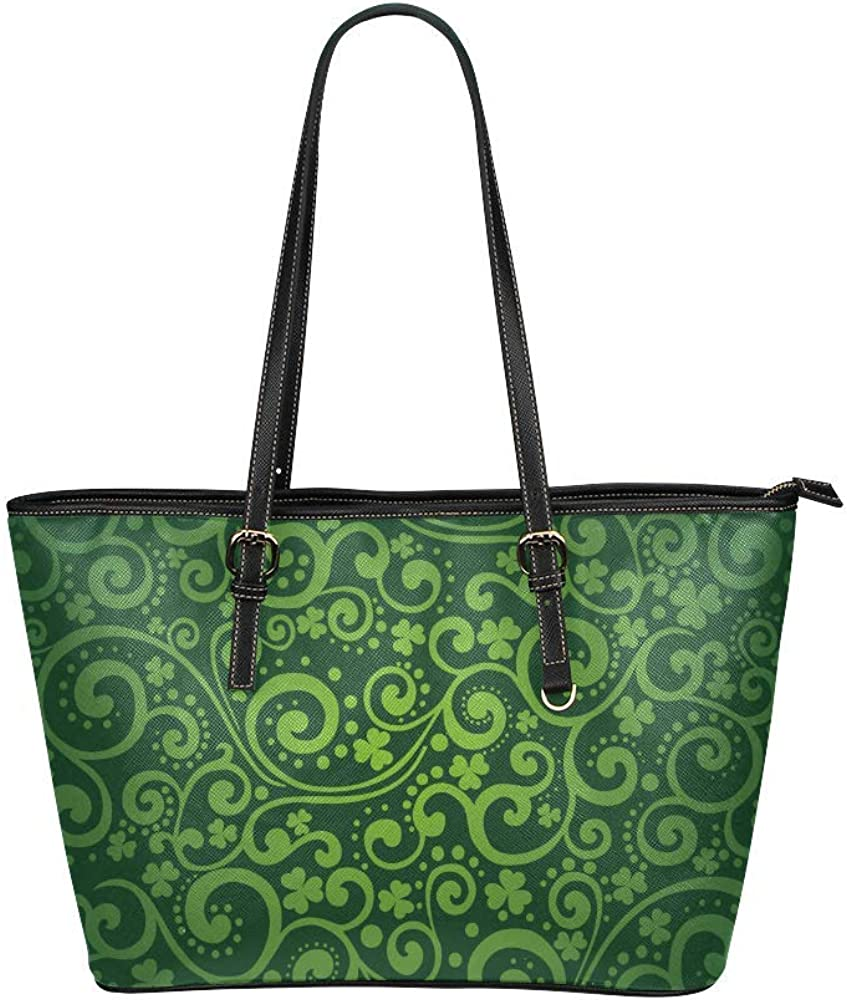 InterestPrint St. Patrick's Day Leather Shoulder Handb Tote It is very popular Bags Max 42% OFF