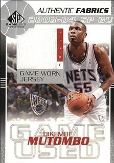 2003-04 SP Game Used Authentic Fabrics #DMJ Dikembe Mutombo Jersey