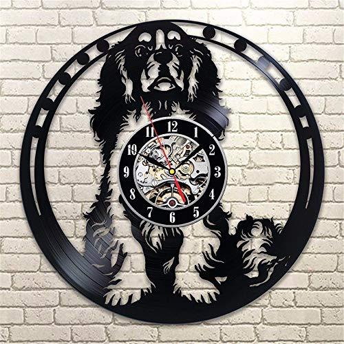 Reloj de Disco de Vinilo con patrón de Perro 6 Diferentes Tipos...