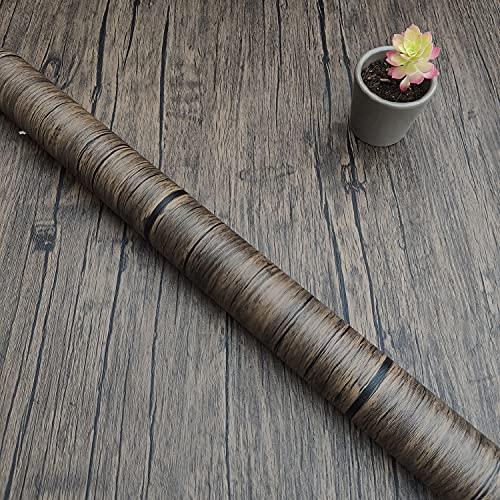 Decorflix Vinilo Papel Adhesivo para Muebles Para forrar amarios mesas estanterías paredes puertas. Vinilo Imitacion Madera Vintage Decorativo Autoadhesivo (Bisonte vetas Café, 60x300cm)