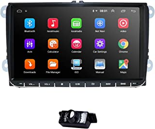 hizpo 9 Inch Android 10 Car Stereo Support Radio Video Player GPS Can-Bus Mirrorlink Bluetooth OBD2 Multi Touch Screen Rev...