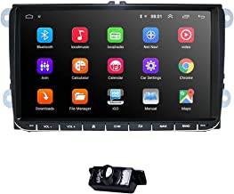 WiFi 9 Inch Android 9.0 Double 2 Din Car Stereo Video Receiver Radio GPS Navi for VW Golf Polo Passat Tiguan Jetta EOS+North America Map+Camera Capacitive Screen