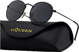 dbf207a006 GQUEEN Espejo Redondo Vintage gafas de sol polarizadas con protección UV400  MFP7