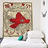 N / A Mandala Tarot Tapestry Wall Hanging Moon Phase Change Tapestries Bedroom Decor Sun Moon Wall...