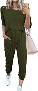 Fixmatti Women Casual 2 Piece Outfit Leisure Set Sweatsuits Summer Tracksuit Set