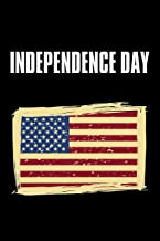 """Independence Day: No.1 Fourth of July U.S. Flags , Black Color Book 6x9"""" 100 Pages Blank Lined Notebook / Journal / Diary ..."""
