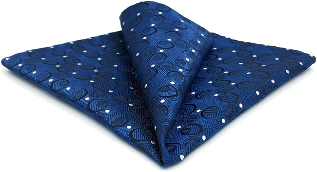 Shlax Wing Navy Hanky Dots Mens In a popularity Large Pocket Blue Japan's largest assortment Silk Square