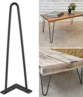Sturdy Metal Hairpin Table Leg,4Pcs 2 Rods Iron Desk Leg Coffee Table Leg Home Accessories for DIY Handcrafts Furniture,Easy to Install(28inch)