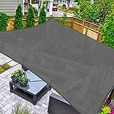HAIKUS Toldo Vela Cuadrado 4x4 m, Vela de Sombra HDPE, Transpirable, Resistente y 95% Protección Rayos UV para Exterior, Jardín, Terrazas (Grafito)