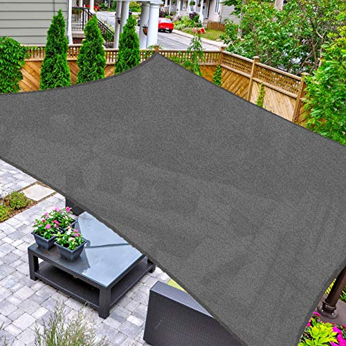 HAIKUS Voile dombrage Carré 3x3m, Toile Ombrage HDPE Respirant 98% Protection Rayons UV pour Jardin Terrasse, Graphite