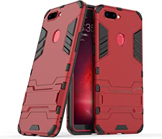 Oppo R11s Case, Hybrid Armor Case [2 in 1] Lightweight Hard PC Cover + Flexible TPU Shock Absorption & Scratch Resistant with Kickstand for Oppo R11s (2017) (6.01 inches) - Red