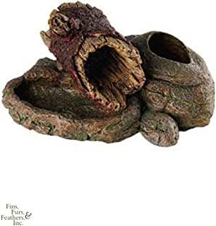 Critter Creations (Sporn) SZN00951 Rock N Wood Small Animal Hideaway with Feeding Dish