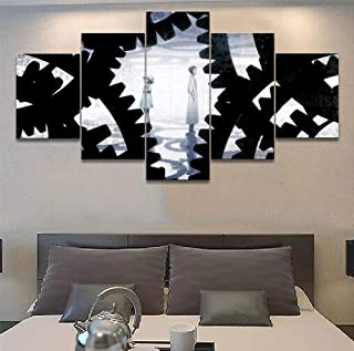 Artwap 5 Piece Painting The Picture for Home Decoration Artwork for Wall Decor Anime Steins Gate The Role Pictures Posters (Size1)