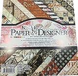 "Gnognauq 40Pcs Multi-Colored Designer Paper Decorative Craft Paper for Creative Scrapbooking and Cards,7''X7"" (DSM010)"