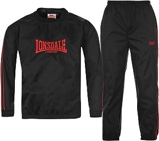 Offerta 2 Pezzi Lonsdale Pantalone Tuta Uomo in Felpa Pantaloni Felpa Uomo Peso Adatto Alla Primavera e Inverno