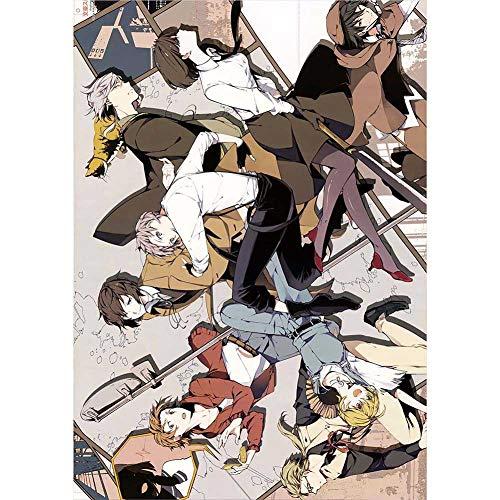 ALTcompluser Anime Bungou Stray Dogs Poster Wanddekoration Wandbild Kleinformat Plakat, Zimmer Deko Wand(Stil 5)