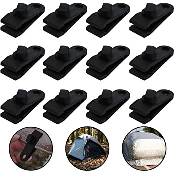 NANSHINE Tarp Clips Heavy Duty Tarp Clamps Shark Tent Fasteners Clips Pool Awning Cover Tent Lock Grip Rope Clips for Outdoors Camping Farming Garden Tarps