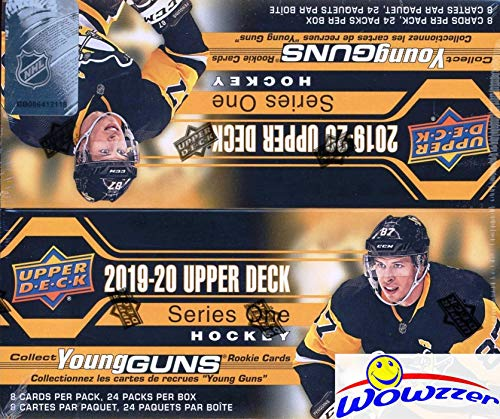 2019/20 Upper Deck Series 1 NHL Hockey MASSIVE Factory Sealed 24 Pack Retail Box with 192 Cards & Game Jersey Card! Includes SIX(6) YOUNG GUN ROOKIES, 3 Canvas Cards & 4 Portrait Inserts! WOWZZER!