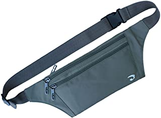 Waist Pack Bag Ultrathin Hide Purse Outdoor Sports Jogging Travel Runner Belt with Credit Card Protector Slots