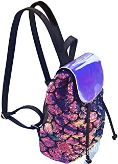 Women Mermaid Sequin Fashion Holographic Backpack School Bags for Teenage Girls