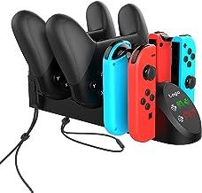 TwiHill o carregador multifuncional é adequado para o controlador Nintendo Switch Joy-Con / Nintendo PRO. Controlador Nint...