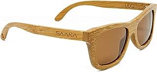 SAAKA 女式竹制太阳镜。 Superior Optics,轻量级,防紫外线和偏光镜片