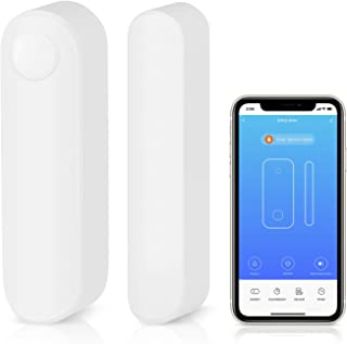 AGSHOME WiFi Door and Windows Sensor Magnets Smart Phone APP Control Doorbell Compatible with Alexa Google Assistant,Wireless Security Alarm Door Open Chime for Home Bussiness Burglar Alert