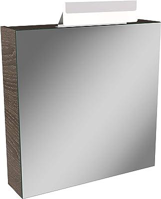 in cm 68 x 20 x 71 Spiegelschrank mit zwei Halogenstrahler und Schalter-Stecker-Kombiboxin sonoma-eiche; Ma/ße B//T//H