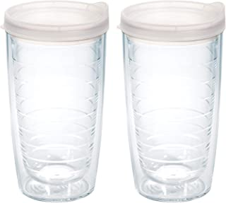 Tervis Clear & Colorful 16oz Insulated Tumbler, 2pk, Clear Lid