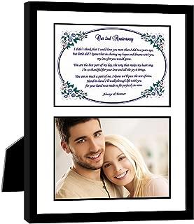 2nd Anniversary Gift for Husband, Wife, Boyfriend, Girlfriend, Add Photo