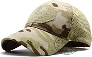QIANWEIXI Gorra Beisbol Hombre Gorra Deportiva Al Aire Libre Punisher Skull Operator Cap Hombres Mesh Summer Fitted Tactical Cap Special Force Sniper Swat Hat Place Patch