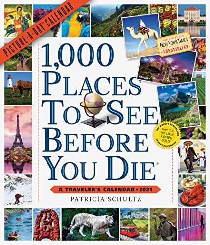 1000 Places to See Picture-A-Day Wall Calendar 2021