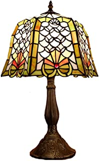 12 Inch Retro Table Lamp Tiffany Style Bedroom Bedside Lamps Glass Painting Living Room Desk Lamp Art Table Light