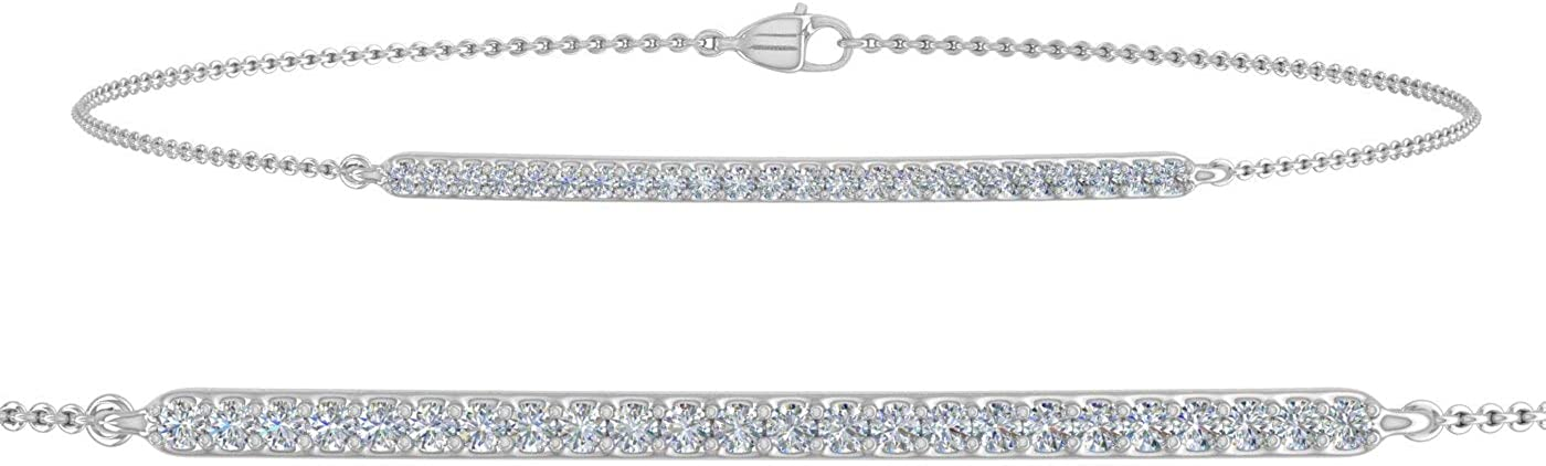 1 5 Carat Diamond Bracelet with in Chain 7.5 Gold Purchase 10K Inch Department store