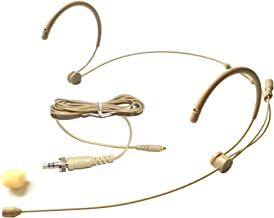 Microdot 4016 Headset Headworn Microphone For SENNHEISER Wireless System- Detachable Cable With 3.5mm Screw Locking Plug - Omidirectional Mic