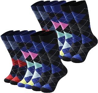 Crew Fashion Dress Socks, Mens Womens Summer Business Mid Calf Colorful Fun Casual Slipper Wedding Socks 6/12 Pairs