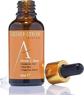 Generation Skincare - Serum Facial Vitamina C y Ácido Hialurónico – El Mejor Serum Vitamina C y Acido Hialuronico - Antimanchas, Antiarrugas, Antiedad y Antiacne – Elaborado Con Una Fórmula Natural