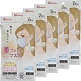 アイリスオーヤマ 美フィット マスク 不織布 7枚×5個セット ふつう 個包装 ホワイト