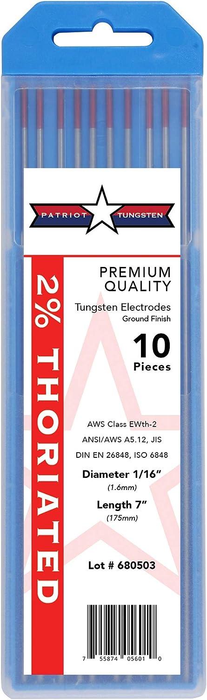 "2% 55% OFF Thoriated TIG Welding Tungsten Ranking TOP9 16"" 1 Electrodes 7†x"