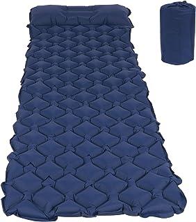 Air Cushion, Camping Mattress Sleeping Pad, Inflatable for Picnic Travel(Dark blue)