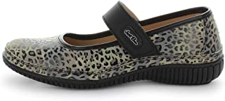 JUST BEE Cale Leopard Style Size 40 Unisex Mary Jane, Leopard, 40 EU