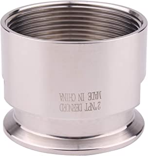 DERNORD 2'' Tri clamp Adapter to 2 inch FNPT Thread Ferrule Sanitary Pipe Fitting